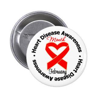 Heart Awareness Month - Heart Disease Button