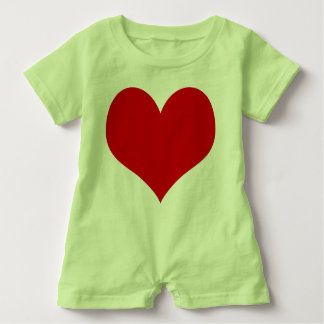 heart baby baby bodysuit