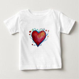 Heart  Baby Fine Jersey T-Shirt