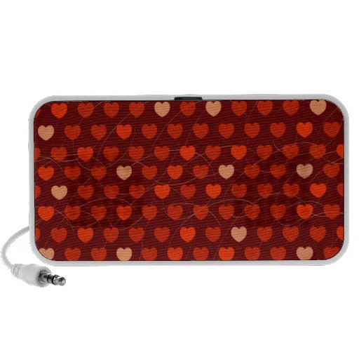 Heart background, doodle portable speakers