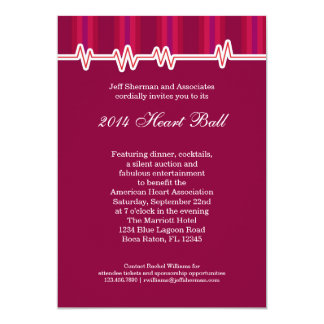 Heart Ball Fundraising Event Invitation