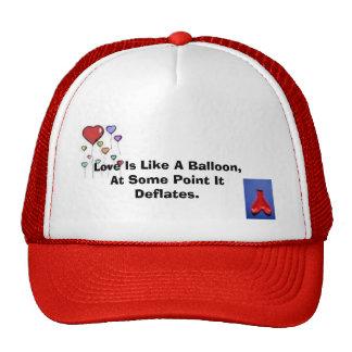 heart balloon, deflated heart balloon, Love Is ... Cap