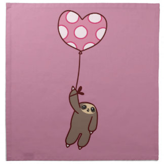 Heart Balloon Sloth Napkin