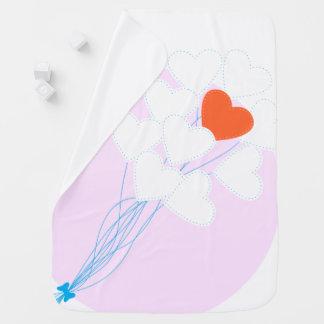 Heart Balloons Baby Blanket