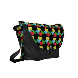 Heart Balloons Designer Rickshaw Messenger Bag
