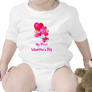 heart balloons, My First Valentine's Day Romper