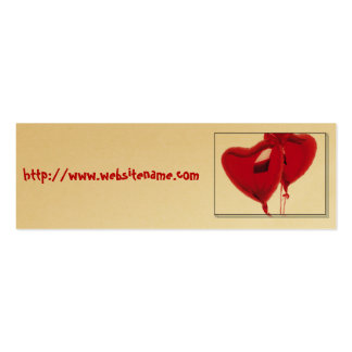 Heart Balloons Pack Of Skinny Business Cards