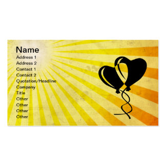 Heart Balloons; yellow Pack Of Standard Business Cards