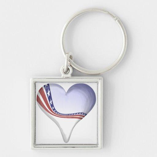 Heart Banner Keychain