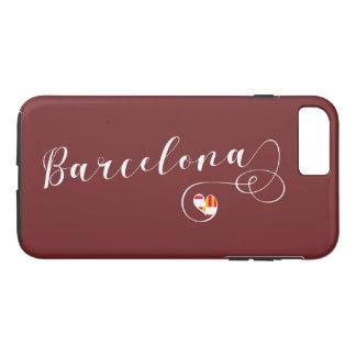 Heart Barcelona Cell Phone Case, Catalonia iPhone 8 Plus/7 Plus Case