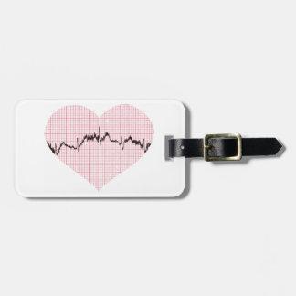 Heart Beat III Luggage Tag