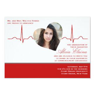Heart Beat Photo Announcement/Invitation Card