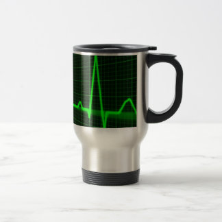 Heart Beat Pulse Trace Travel Mug