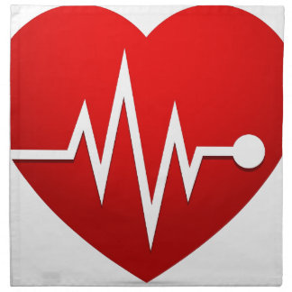 Heart Beat Rate Napkin