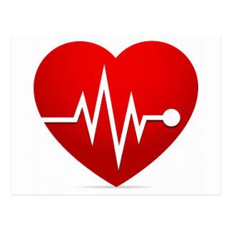 Heart Beat Rate Postcard