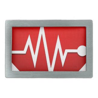 Heart Beat Rate Rectangular Belt Buckle