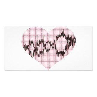 Heart Beat V Photo Card