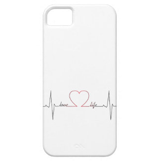 Heart beat with love life inspirational quote case for the iPhone 5