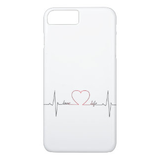 Heart beat with love life inspirational quote iPhone 7 plus case