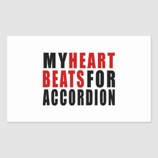 HEART BEATS FOR ACCORDION RECTANGULAR STICKER