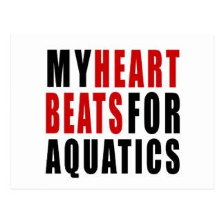 HEART BEATS FOR AQUATICS POSTCARD