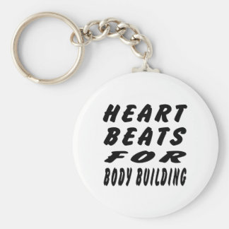 Heart Beats For Body Building Key Chain