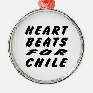 Heart Beats For Chile Ornament