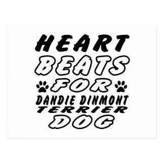 Heart Beats For Dandie Dinmont Terrier. Postcard