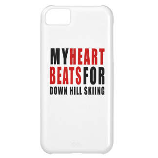 HEART BEATS FOR DOWN HILL SKIING iPhone 5C CASE