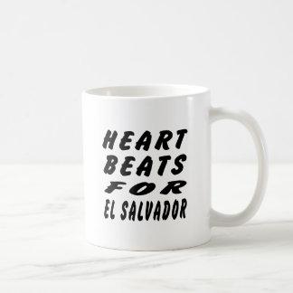 Heart Beats For El Salvador Coffee Mugs