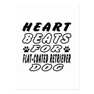 Heart Beats For Flat coated retriever Postcard