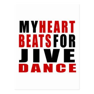 HEART BEATS FOR JIVE POSTCARD