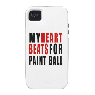 HEART BEATS FOR PAINT BALL iPhone 4/4S COVERS