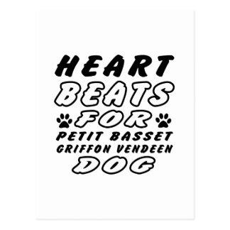 Heart Beats For Petit Basset Griffon Vendeen Postcard