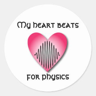 Heart Beats for Physics Sticker