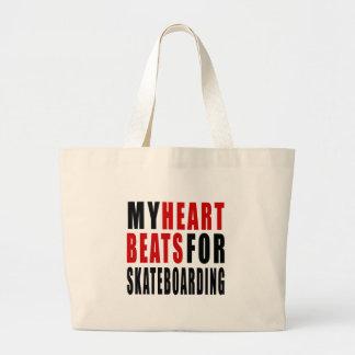 HEART BEATS FOR SKATEBOARDING JUMBO TOTE BAG