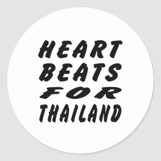 Heart Beats For Thailand Round Sticker