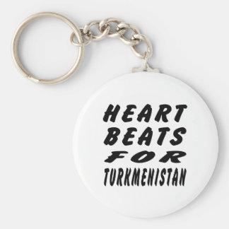 Heart Beats For Turkmenistan Key Chain