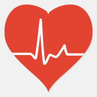 Heart Beats Heart Sticker