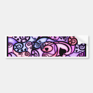 Heart Beats Singing, Stained Glass style Bumper Sticker