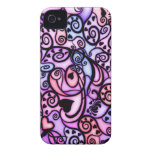 Heart Beats Singing, Stained Glass style iPhone 4 Cases