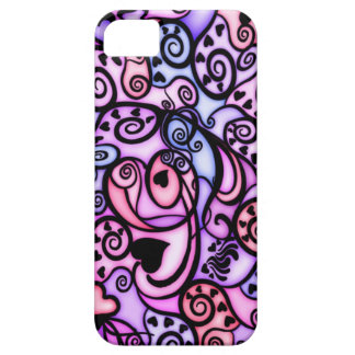 Heart Beats Singing, Stained Glass style Barely There iPhone 5 Case