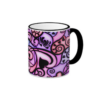 Heart Beats Singing, Stained Glass style Coffee Mug