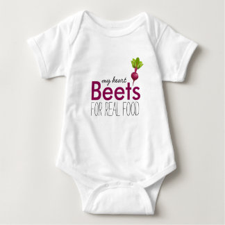 Heart Beet Baby Baby Bodysuit