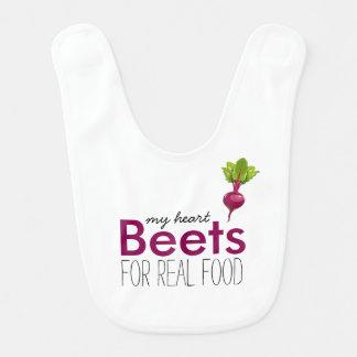 Heart Beets Baby Bibs
