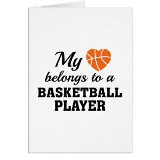 Heart Belongs Basketball Card