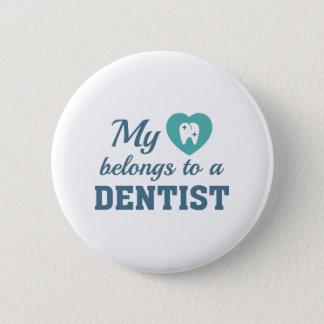Heart Belongs Dentist 6 Cm Round Badge