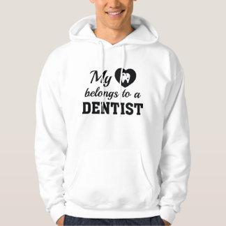 Heart Belongs Dentist Hoodie