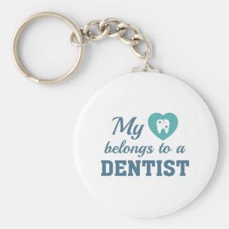 Heart Belongs Dentist Key Ring