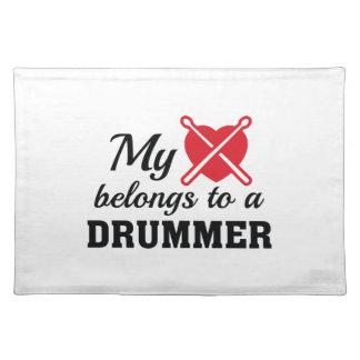 Heart Belongs Drummer Placemat